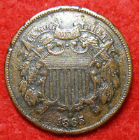 VERY NICE 1865 2 CENT WITH XF DETAILS OFFERS WILL BE CONSIDERED