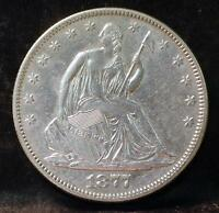 1877 LIBERTY SEATED HALF DOLLAR IDPP37