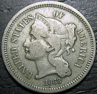 1868 3 CENT NICKEL PIECE      MAKE US AN OFFER  R1299
