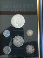 1922 PEACE SILVER DOLLAR IN VINTAGE U.S. OBSOLETE 6 COIN SET CENT THRU DOLLAR