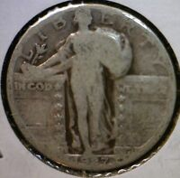 1927S KEY DATE STANDING LIBERTY QUARTER DOLLAR US SILVER COIN ESTATE  1927 S L8