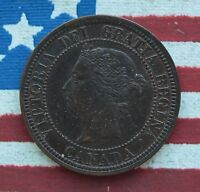 KAPPYSCOINS 1881H CANADA LARGE CENT NICE AU  UNC SOME LUSTER
