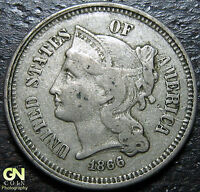 1866 3 CENT NICKEL PIECE      MAKE US AN OFFER  Y4827