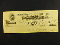 ANTIQUE VINTAGE 1932 FARMERS STATE BANK AFTON OK BANK CHECK WILLIAM PALMER