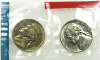 1980 P AND D SET OF UNCIRCULATED BU JEFFERSON NICKEL MINT CELLO B03