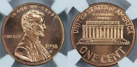 1998 D NGC MS67RD PROOFLIKE LINCOLN CENT