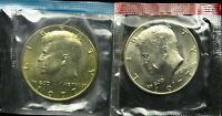 1977 P AND D SET OF UNCIRCULATED KENNEDY HALF DOLLAR BU MINT CELLO B02