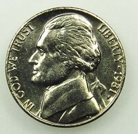 1981 P UNCIRCULATED JEFFERSON NICKEL B03