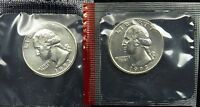 1993 P & D UNCIRCULATED WASHINGTON QUARTER MINT CELLO B01