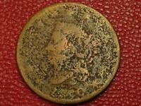 UGLY OLD DISGUSTING U S. COIN1820 LARGE ONE CENT PENNY CE49