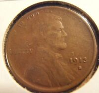 1913 S  LINCOLN CENT - F 13SAA