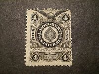 US RU3A  A. DOUGHERTY   PRIVATE DIE PLAYING CARDS REVENUE