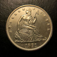 1891 P MOTTO LIBERTY SEATED HALF DOLLAR CHOICE GEM UNCIRCULATED MS UNC BU 50C