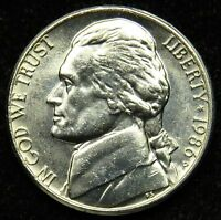 1986 P UNCIRCULATED JEFFERSON NICKEL BU B03