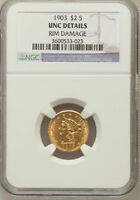 1903 G$2.50 QTR EAGLE LIBERTY HEADBEST PRICE ON EBAY FOR A CERTIFIED UNC DETAIL