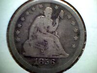 1856 S 25C LIBERTY SEATED QUARTER  VG   DATE