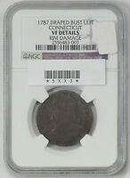 1787 COLONIAL  CENT NGC F 12 CONNECTICUT DRAPED BUST