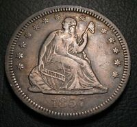 OLD US COINS 1857 O LIBERTY SEATED QUARTER HIGH GRADE BEAUTY