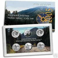 2005 WESTWARD JOURNEY 6 COIN NICKEL PROOF SET US MINT   OTHER COINS LISTED