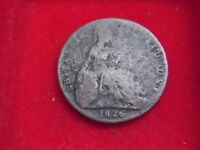 1826  GEORGE 1V FARTHING  FROM MY COLLECTION [F1]