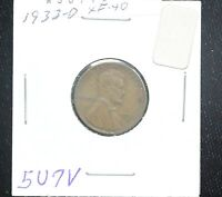 1933 D WHEAT CENT XF
