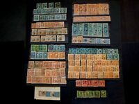 U.S. LARGE  COLLECTION OF 173 UNCHECKED 1ST AND 2ND ISSUE REVENUE STAMPS