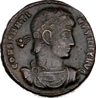ANCIENT COIN HOUSE: CONSTANTINE THE GREAT. BRONZE COIN. IMPERIAL ROMAN EMPIRE.