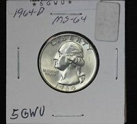 1964 D WASHINGTON QUARTER MS