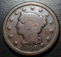 1848 BRAIDED HAIR LARGE CENT     MAKE US AN OFFER O3731