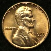 1959 D UNCIRCULATED LINCOLN MEMORIAL CENT PENNY BU B04