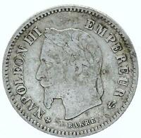 M1741 20 CENTIMES NAPOLON III 1867 BB STRASBOURG ARGENT SILVER    FAIRE OFFRE