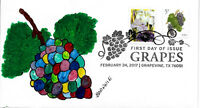 FDC GRAPES 3 ALL NEW 2017 FDC HAND PAINTED BY BARNNIE