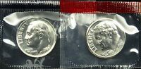 1989 P AND D SET OF UNCIRCULATED BU ROOSEVELT DIME MINT CELLO B03
