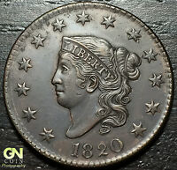 1820 CORONET HEAD LARGE CENT N10 R2        MAKE US AN OFFER  O2854