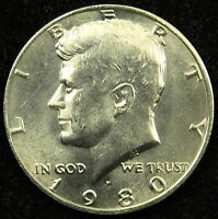 1980 P UNCIRCULATED KENNEDY HALF DOLLAR BU B01