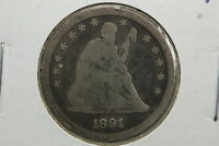 1891 SEATED QUARTER G