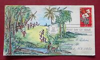 SETTLEMENT OF FLORIDA 1271 FDC,  HAND DRAWN HAYDEN CACHET