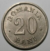 ROMANIA   20 BANI 1900 .  UNC . INTERESTING ERROR : DOUBLE LETTERS .