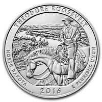 2016 AMERICA THE BEAUTIFUL   THEODORE ROOSEVELT NATIONAL PARK   5 OZ SILVER COIN