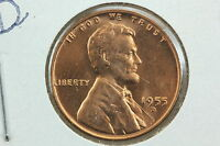 1955 D/D WHEAT CENT MS REPUNCHED MINT MARK