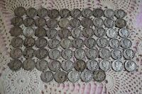 65 PIECES 1917-1945 WINGED LIBERTY MERCURY DIMES 90 SILVER VALUE $6.504