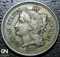 1868 3 CENT NICKEL PIECE      MAKE US AN OFFER  G2159