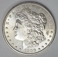 1900 P $1 MORGAN SILVER DOLLAR UNCIRCULATED FULL CHEST FEATHERS LUSTROUS M 38