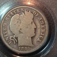PCGS  G 6  1895 O   BARBER DIME   NICE SOLID RIMS   THE KEY DATE