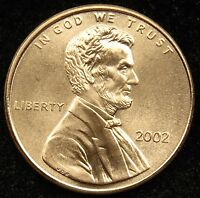 2002 UNCIRCULATED LINCOLN MEMORIAL CENT PENNY BU B01