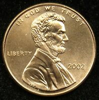 2002 UNCIRCULATED LINCOLN MEMORIAL CENT PENNY BU B04