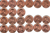 1959 TO 1982 P&D  1968S TO 74S   LINCOLN CENT RED  UNC SET  52 COINS  FAST SHIP