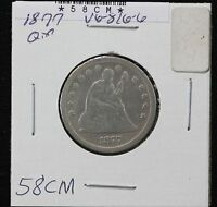 1877 SEATED QUARTER G