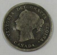 1887 CANADA NICKEL BETTER DATE AND LOW MINTAGE  OLD CANADIAN 5 CENTS