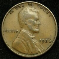 1936 LINCOLN WHEAT CENT PENNY F FINE B04